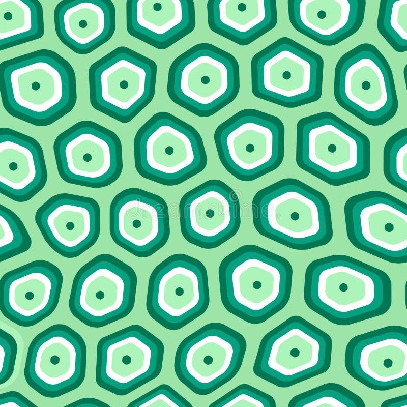 Modello ripetitivo senza cuciture di vettore del tessuto organico delle cellule royalty illustrazione gratis