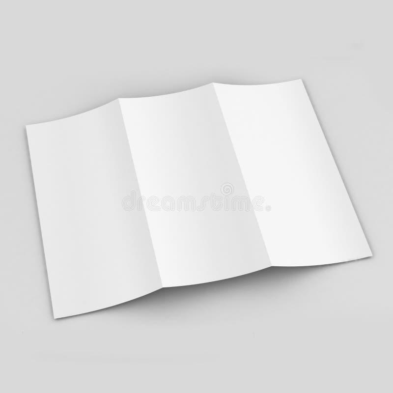 Modello ripiegabile dell'opuscolo A4 illustrazione vettoriale