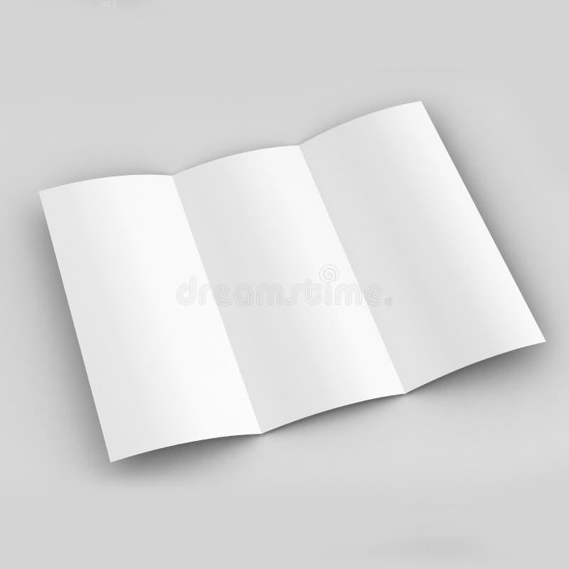 Modello ripiegabile dell'opuscolo A4 illustrazione di stock