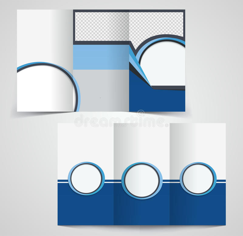 Modello ripiegabile dell'opuscolo di affari, progettazione bilaterale del modello, illustrazione di stock