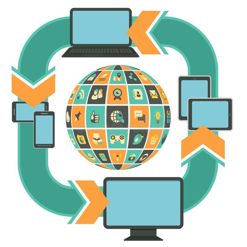 Modello rispondente di web design illustrazione vettoriale