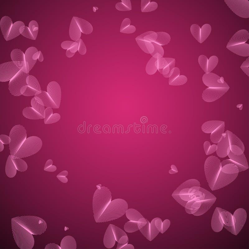 Modello rosa di vettore con cuore royalty illustrazione gratis