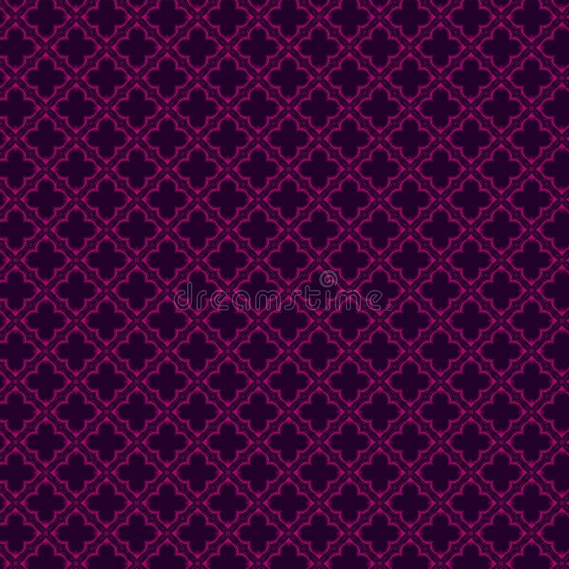 modello rosa porpora su fondo blu scuro illustrazione vettoriale