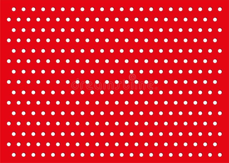 Modello rosso del fondo dei pois illustrazione vettoriale
