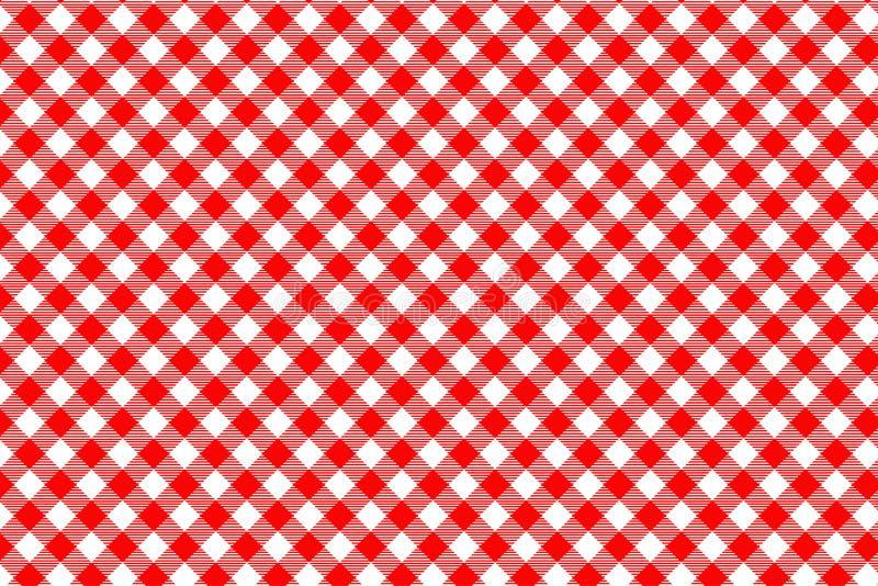 Modello rosso del percalle Struttura dal rombo/quadrati per - il plaid, tovaglie, vestiti, camice, vestiti, carta, lettiera, cope fotografie stock libere da diritti