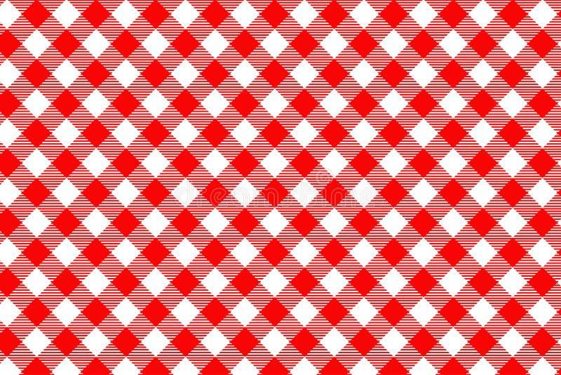 Modello rosso del percalle Struttura dal rombo/quadrati per - il plaid, tovaglie, vestiti, camice, vestiti, carta, lettiera, cope immagini stock libere da diritti