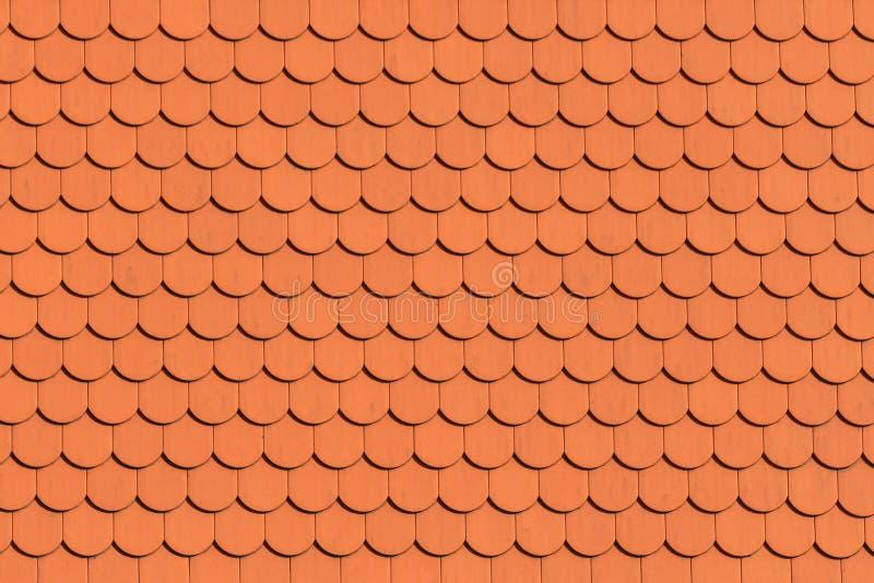 Modello rosso delle mattonelle di tetto fotografia stock libera da diritti