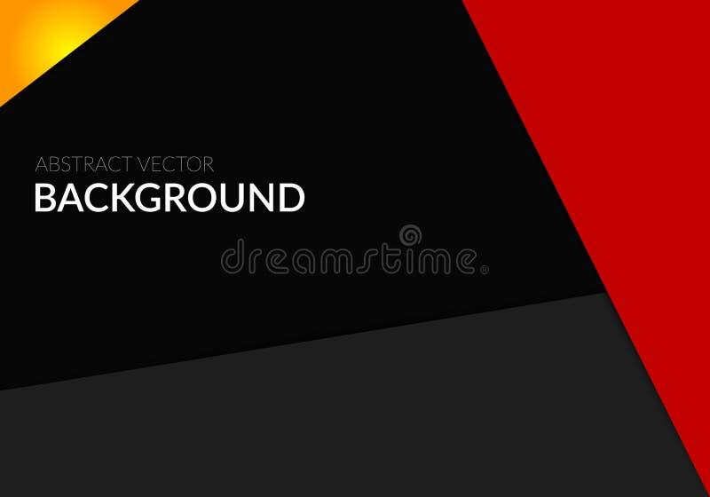 Modello rosso di progettazione del fondo dell'insegna del manifesto del nero astratto di vettore fotografia stock libera da diritti
