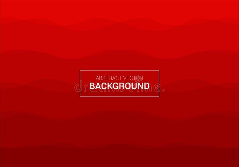 Modello rosso di progettazione del fondo del manifesto di vettore astratto fotografia stock