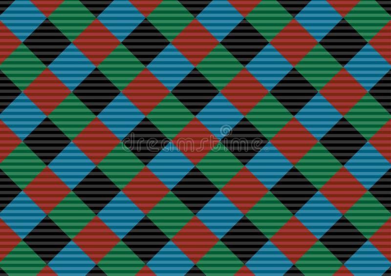 Modello rosso, nero, verde e blu del percalle del mattone refrattario Illustrazione di vettore Eps-10 - L'archivio di vettore illustrazione di stock