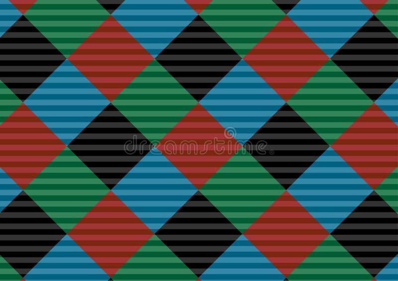 Modello rosso, nero, verde e blu del percalle del mattone refrattario Illustrazione di vettore Eps-10 - L'archivio di vettore illustrazione vettoriale
