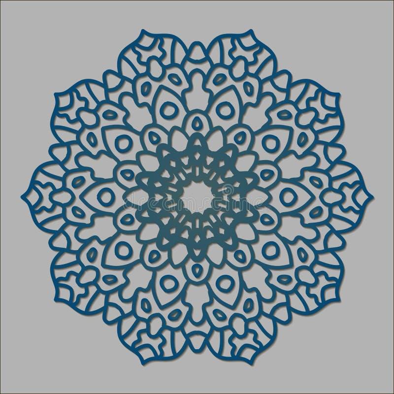 Modello rotondo della mandala decorata royalty illustrazione gratis