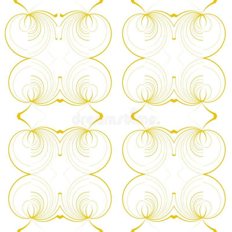 Modello rotondo giallo geometrico senza cuciture immagine stock libera da diritti