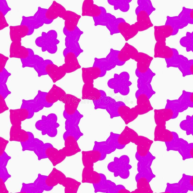 Modello rotondo ornamentale della viola di rosa del pizzo dei cuori fotografia stock libera da diritti