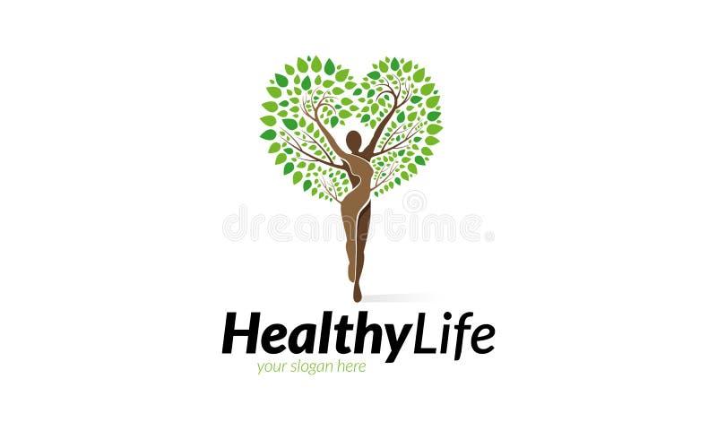 Modello sano di logo di vita royalty illustrazione gratis