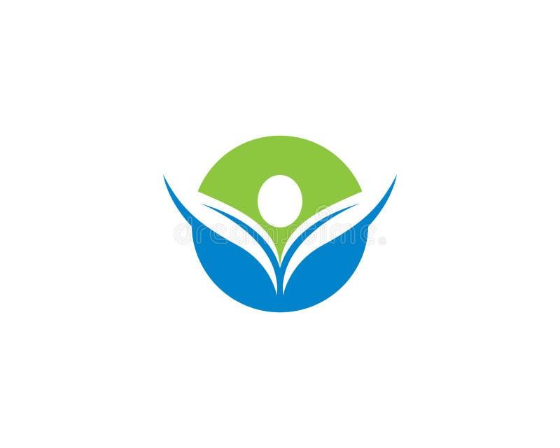 Modello sano di logo di vita illustrazione di stock