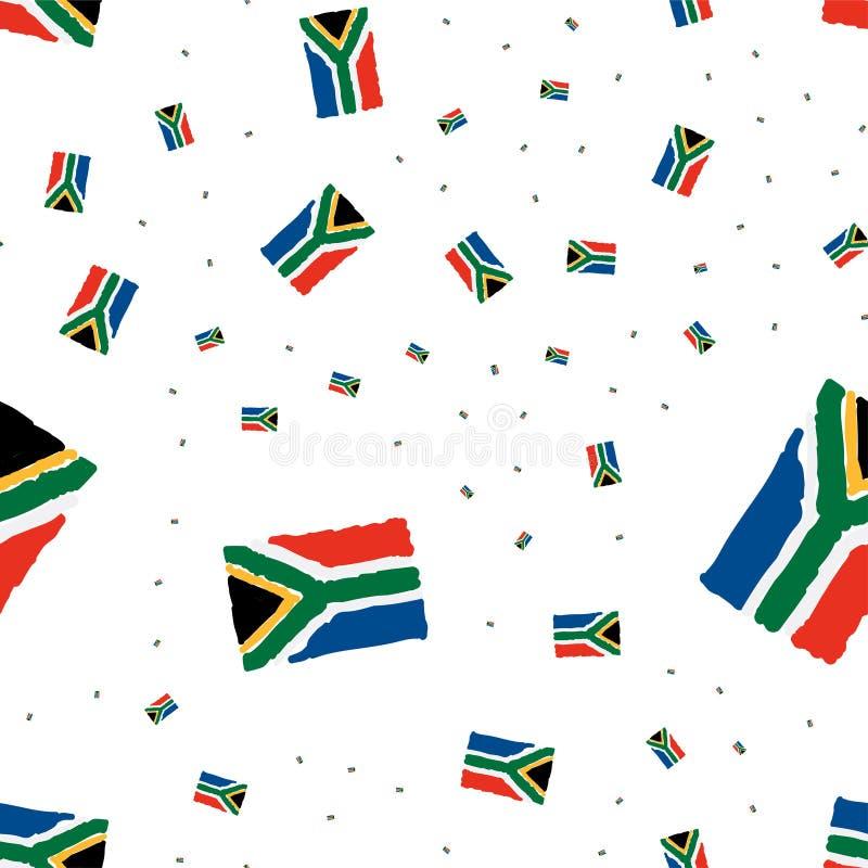 Modello senza cuciture africano con la bandiera Illustrazione piana ENV 10 royalty illustrazione gratis
