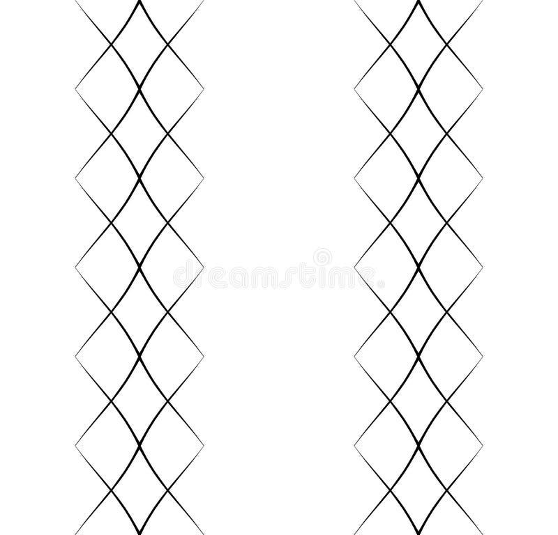 Modello senza cuciture arabo con l'onda 7 illustrazione di stock