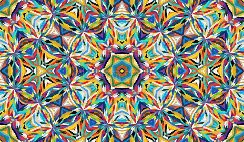 Modello senza cuciture astratto con il caleidoscopio Colori saturati luminosi per la vostra progettazione royalty illustrazione gratis