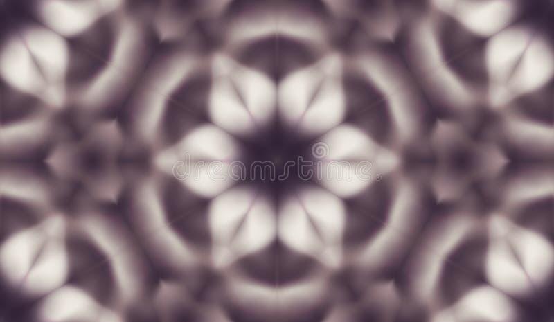 Modello senza cuciture astratto con il caleidoscopio Modelli delle riflessioni simmetrici delle figure illustrazione vettoriale