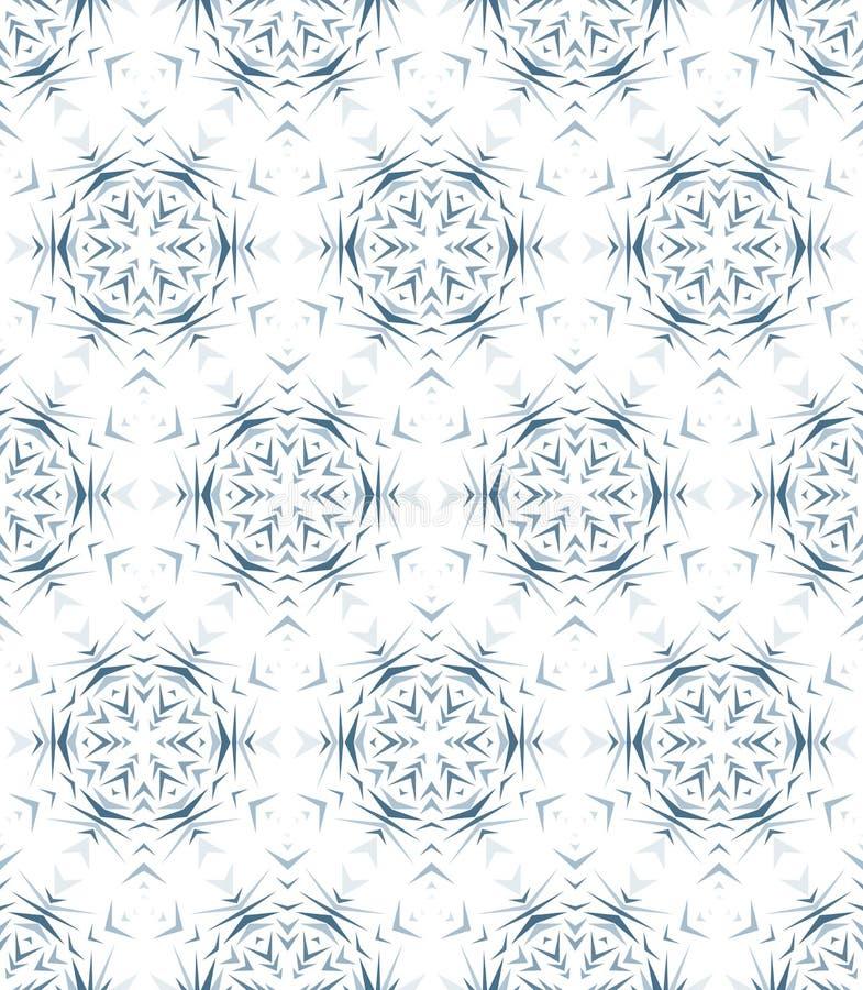 Modello senza cuciture astratto con il caleidoscopio Modelli delle riflessioni simmetrici delle figure royalty illustrazione gratis