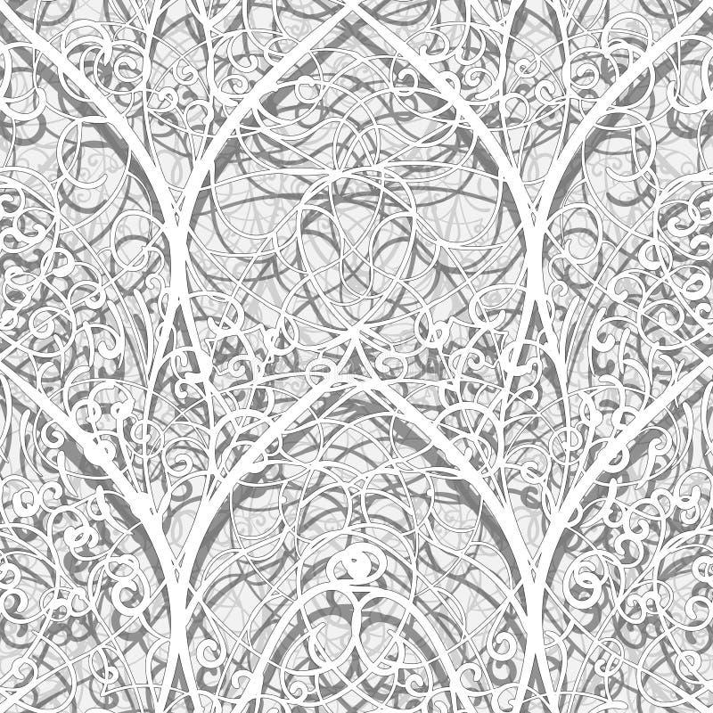 Modello senza cuciture astratto del papercut di stile architettonico illustrazione vettoriale