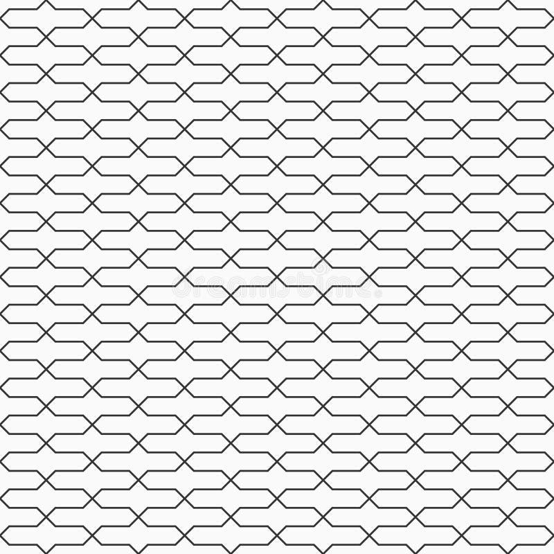 Modello senza cuciture astratto della grata Progettazione di griglia Carta da parati geometrica illustrazione di stock