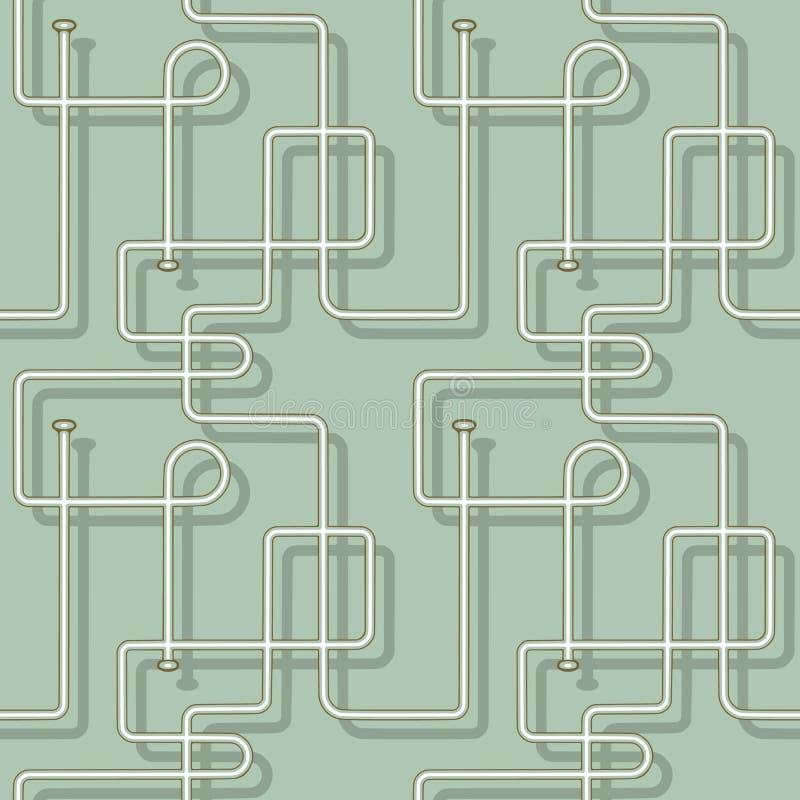 Modello senza cuciture astratto di vettore dei tubi isolato dai precedenti royalty illustrazione gratis