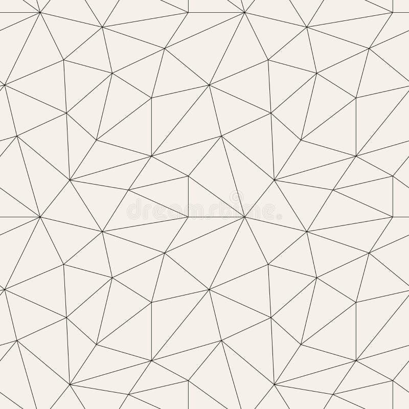Modello senza cuciture astratto poligonale nei colori grigi illustrazione vettoriale