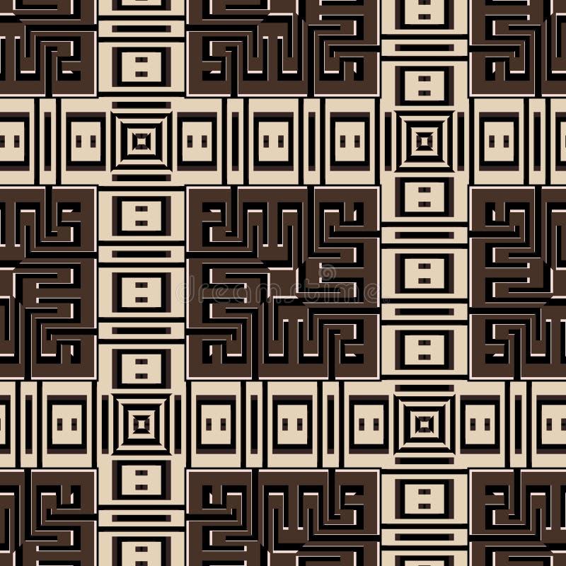 Modello senza cuciture astratto a quadretti geometrico Fondo a strisce del tartan moderno del plaid Contesto dei quadrati di ripe illustrazione di stock