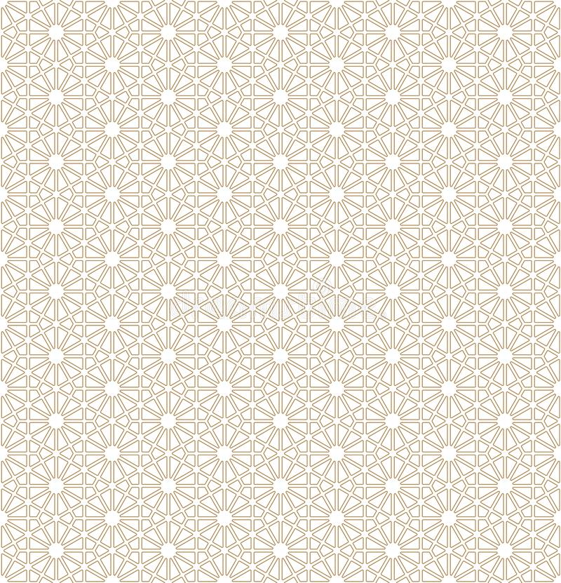 Modello senza cuciture basato sull'ornamento giapponese Kumiko illustrazione di stock