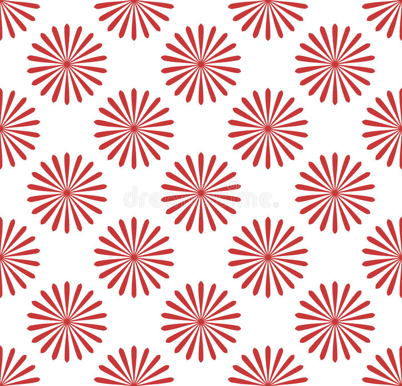Modello senza cuciture, carta da parati con i motivi del fiore Monochrom semplice illustrazione di stock