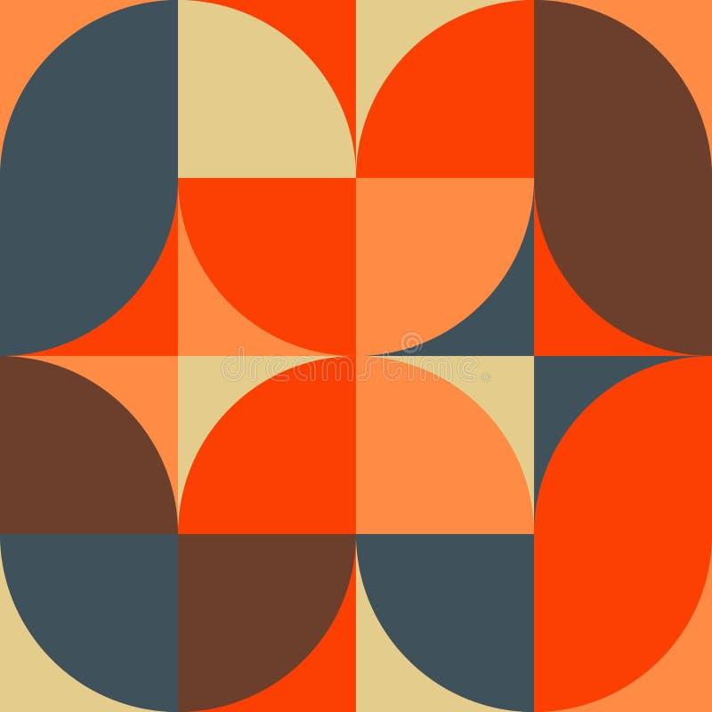 Modello senza cuciture colorato semplice geometrico Manifesto minimalista astratto Fondo scandinavo illustrazione di stock