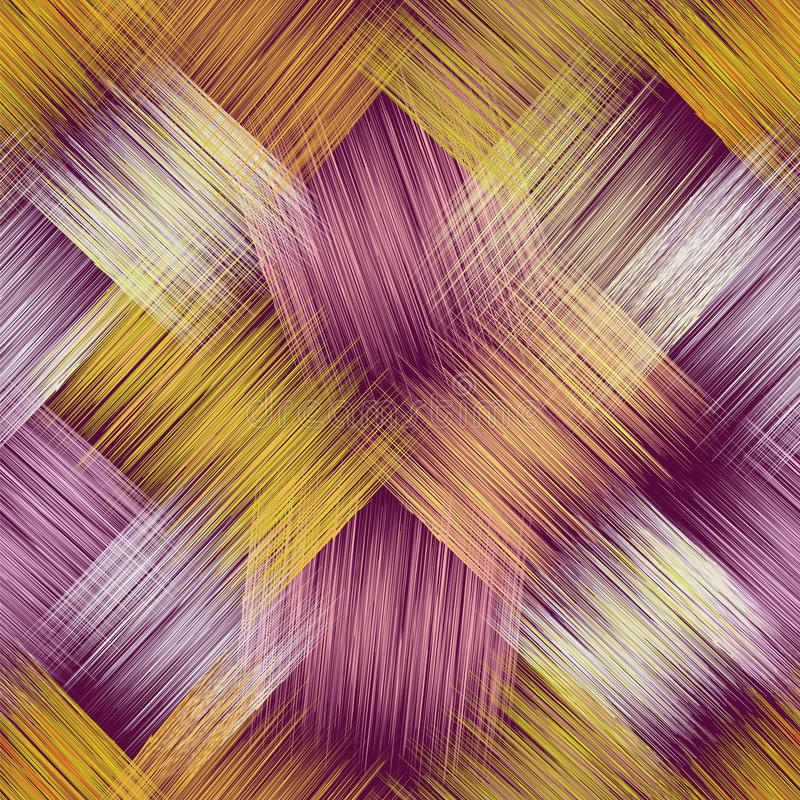 Modello senza cuciture con gli elementi quadrati a strisce diagonali di lerciume royalty illustrazione gratis