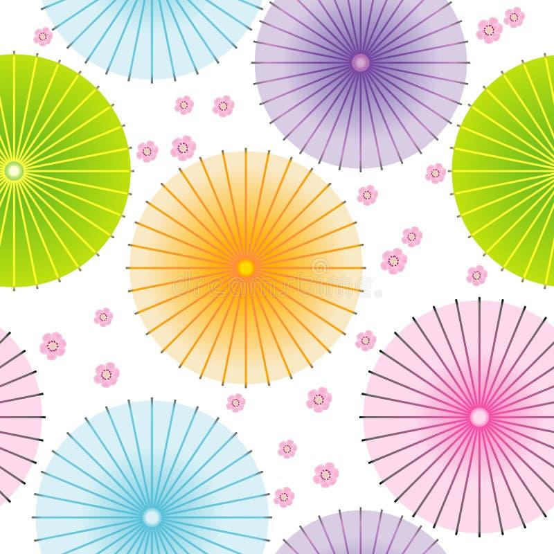 Download Modello Senza Cuciture Con Gli Ombrelli Giapponesi Illustrazione di Stock - Illustrazione di giapponese, parasole: 56875817