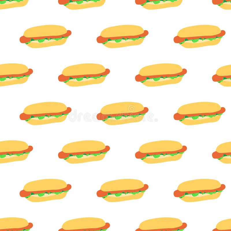 Modello senza cuciture con i hot dog royalty illustrazione gratis