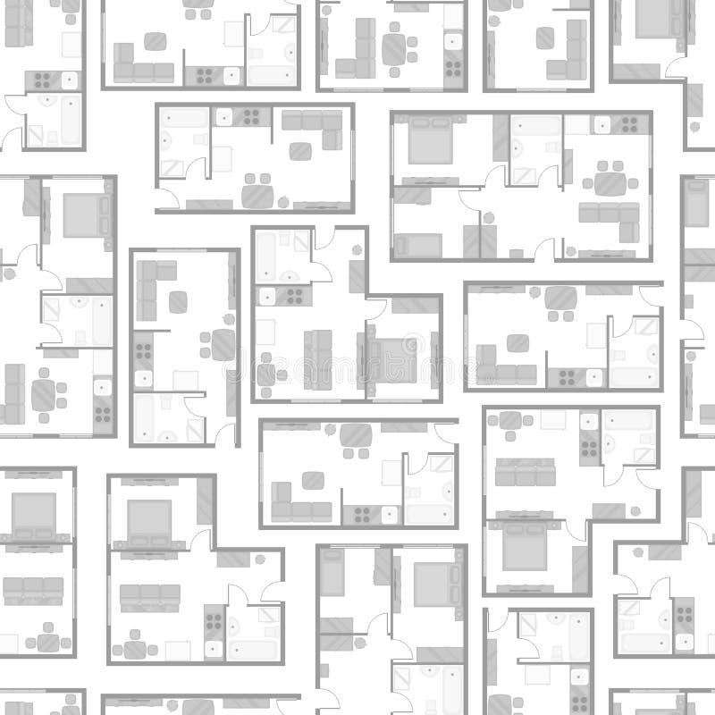 Modello senza cuciture con i progetti architettonici dell for Mobilia spazio