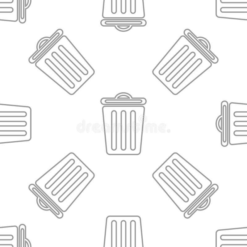 Modello senza cuciture con il recipiente immagine stock