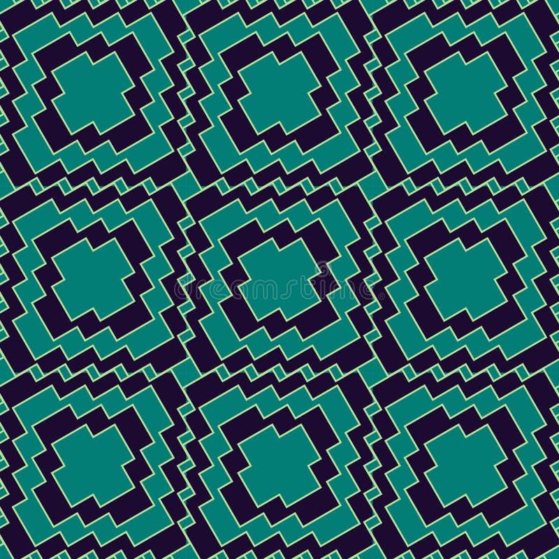 Modello senza cuciture con il retro stile assorbente geometrico semplice royalty illustrazione gratis