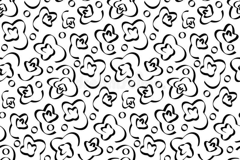 Modello senza cuciture con l'ornamento astratto nero illustrazione vettoriale