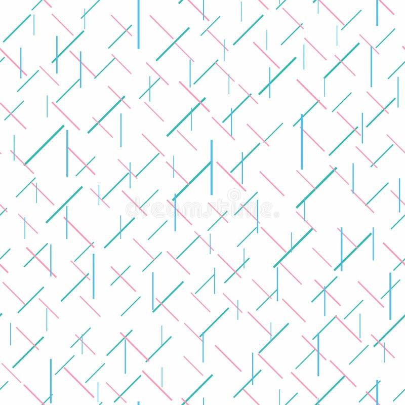 Modello senza cuciture con le linee di scarsità caotiche Illustrazione di vettore illustrazione vettoriale