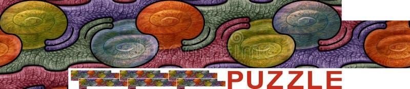 Modello senza cuciture con le lumache - puzzle illustrazione vettoriale