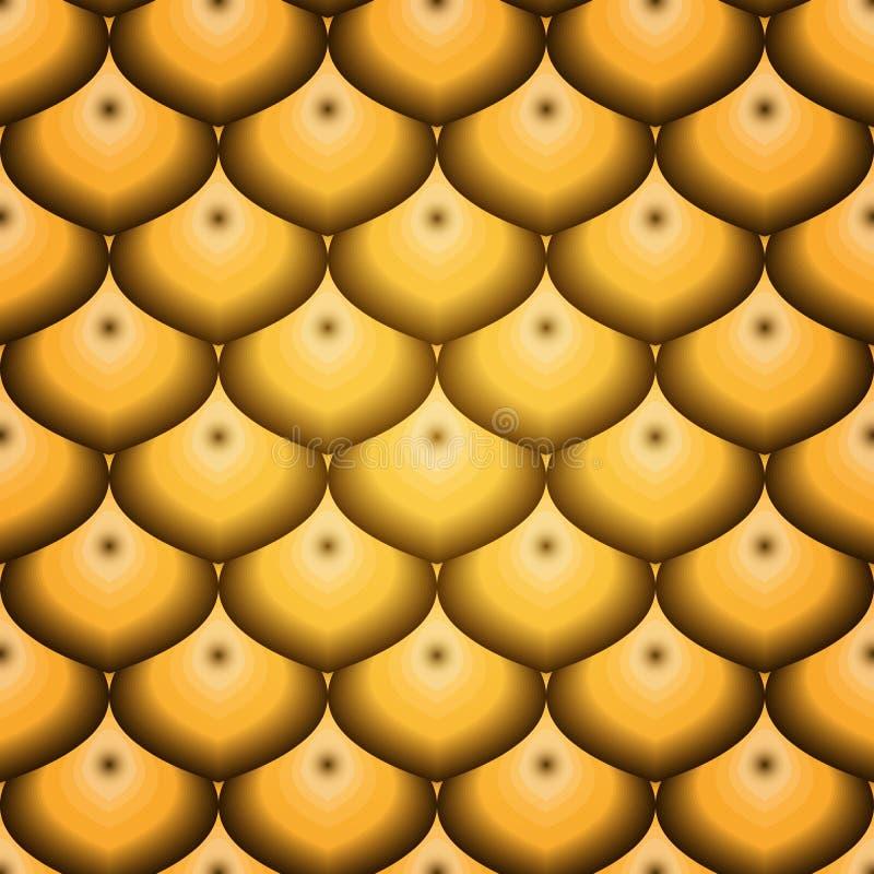 Modello senza cuciture con le scale dorate illustrazione di stock
