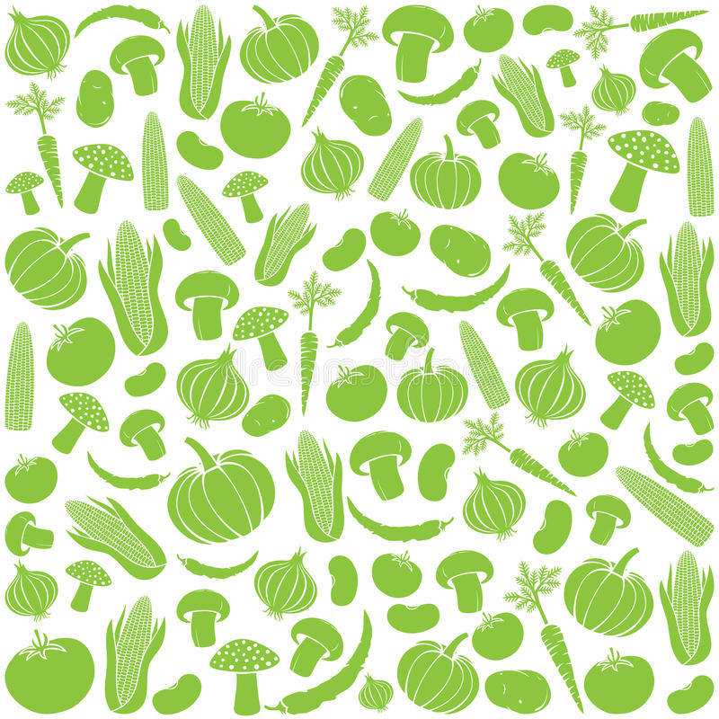 Modello senza cuciture con le verdure royalty illustrazione gratis