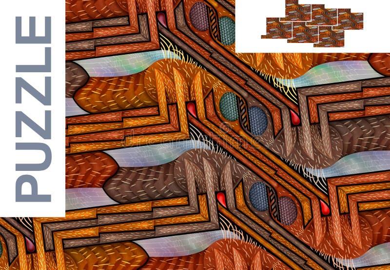 Modello senza cuciture con le zanzare - puzzle illustrazione vettoriale