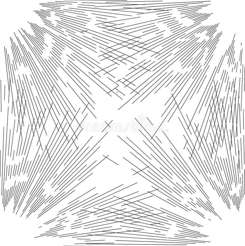 Modello senza cuciture con lo scoppio d'annata della stella di stile illustrazione di stock
