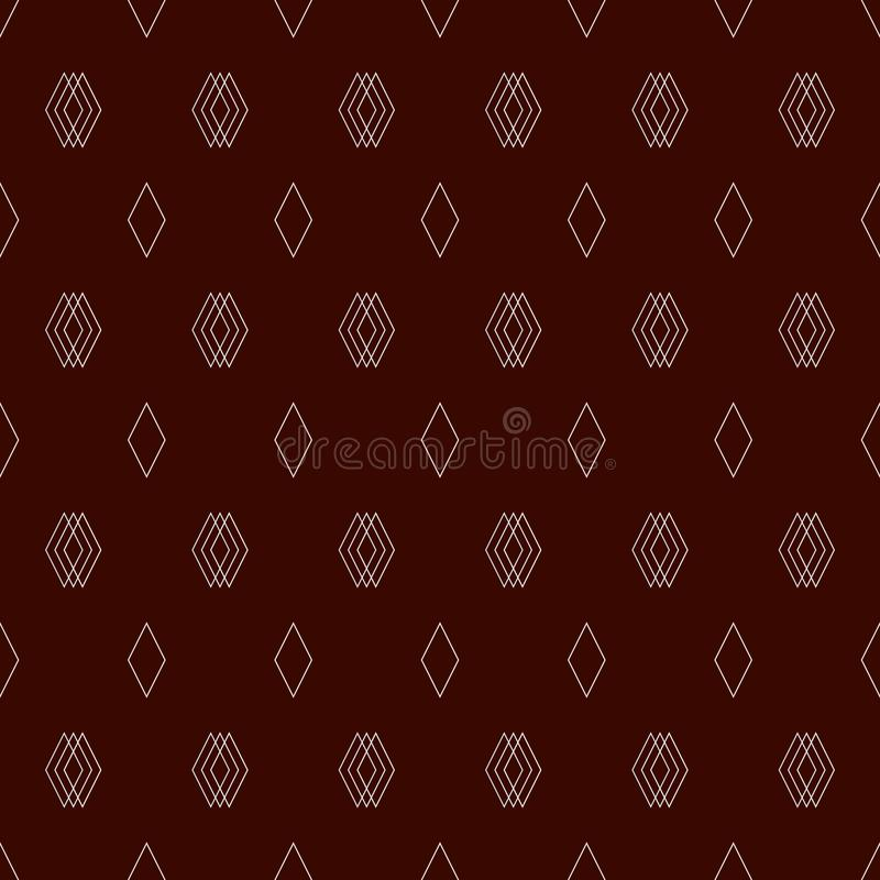 Modello senza cuciture contemporaneo con le figure geometriche Fondo ripetuto dell'estratto del diamante Motivo delle losanghe e  illustrazione di stock