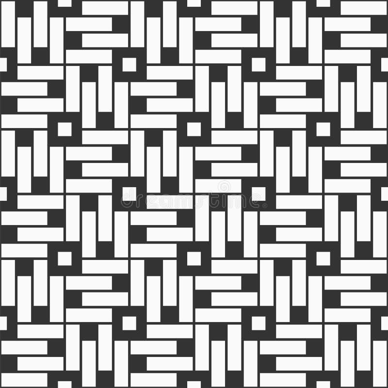 Modello senza cuciture coreano o cinese astratto Ornamento simmetrico geometrico di Repeatimg royalty illustrazione gratis