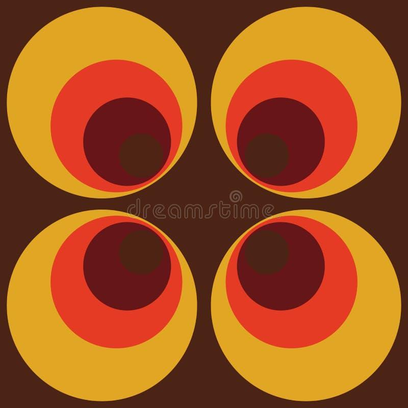 Modello senza cuciture d'annata del retro giro arancio marrone senza cuciture di Backround dell'estratto che ripete modello royalty illustrazione gratis