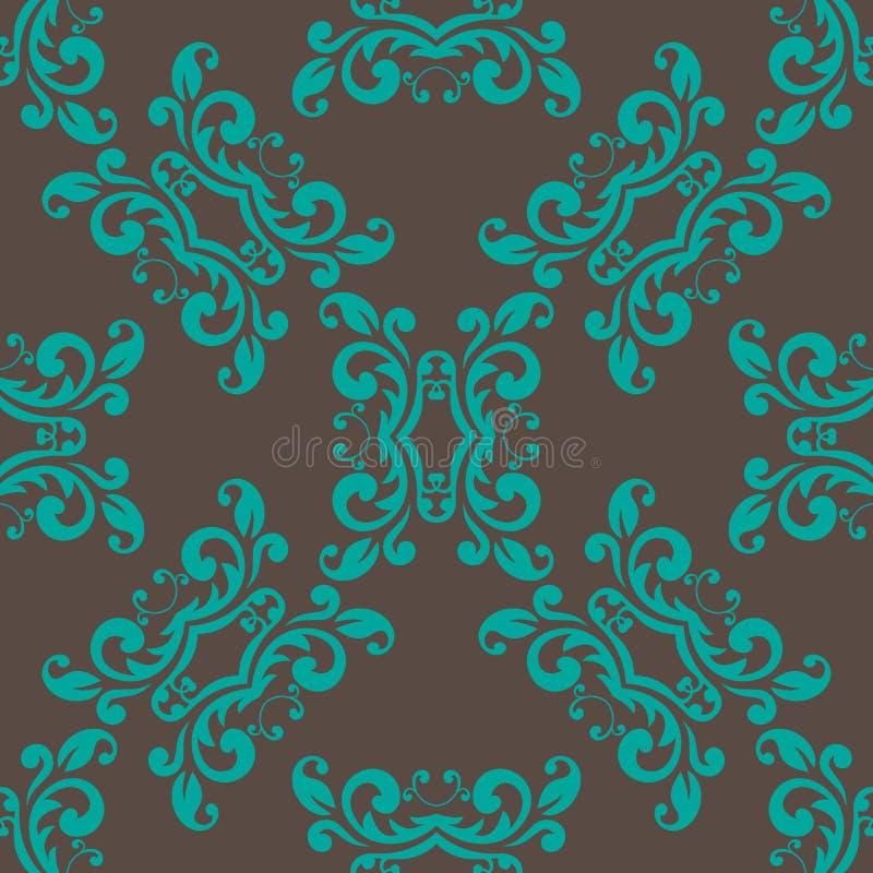 Download Modello Senza Cuciture Decorato Di Brown Illustrazione Vettoriale - Illustrazione di artistico, luce: 56886020